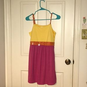 Xhilaration yellow & pink sundress (Target)